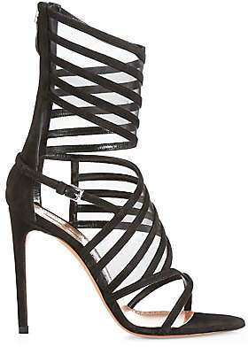 Alaia Women's Strappy Wrap Ankle High Heel Sandals