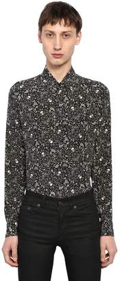 Saint Laurent Yves Skull Printed Silk Shirt
