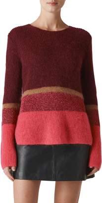 Whistles Wide Stripe Sparkle Sweater