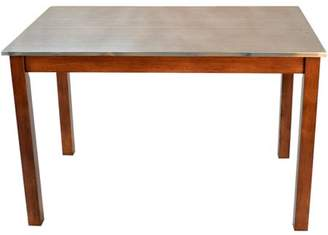 Carolina Chair & Table Cooper Stainless Steel Top Dining Table, Multiple Colors