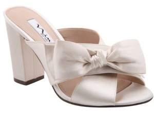 Nina Samina Block-Heel Slip-On Sandals