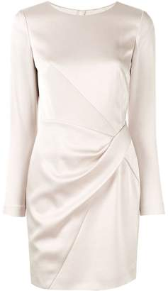 Paule Ka drape detail crepe dress