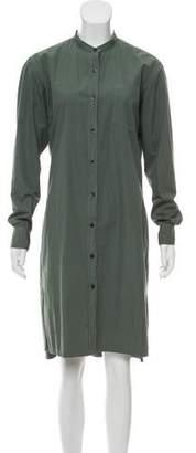 Dries Van Noten Long Sleeve Button-Up Shirtdress