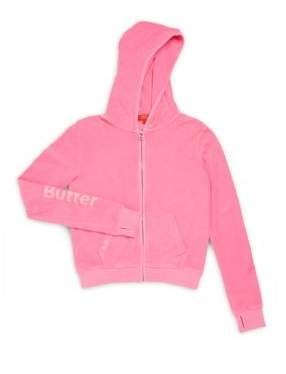Girl's Mineral Embellished Hoodie $68 thestylecure.com