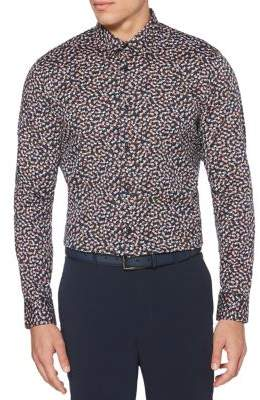 Perry Ellis Abstract Floral-Printed Long-Sleeve Shirt