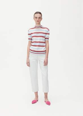 Marni Short Sleeve Striped Crew Neck Sweater