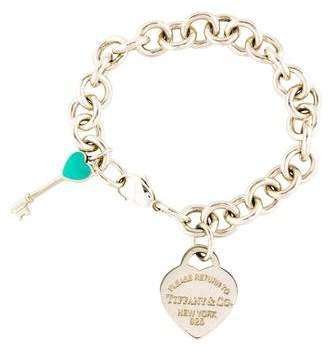 Tiffany & Co. & Co. Return to Heart Tag Bracelet & Enamel Mini Heart Key Charm