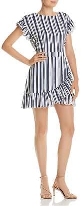 Aqua Ruffled Striped Tie-Waist Dress - 100% Exclusive