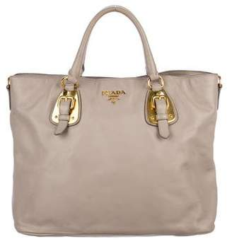 Prada Soft Calf Buckle Tote