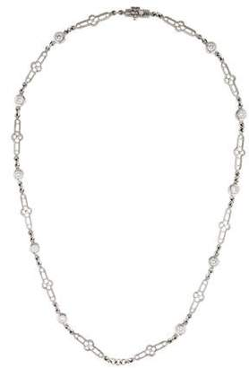 Loree Rodkin Platinum Diamond Link Necklace