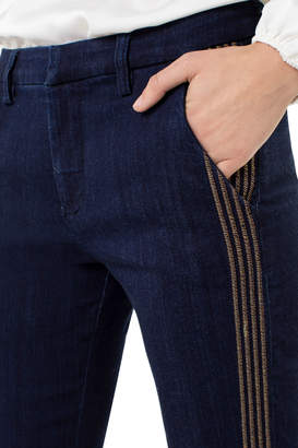 Liverpool Denim trouser with embroidery