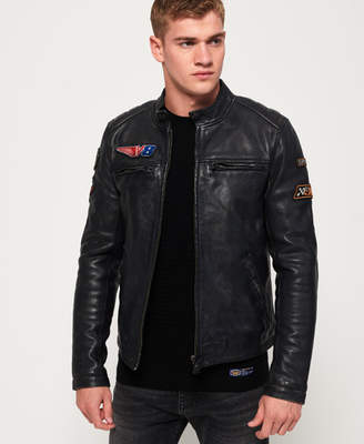 Superdry Endurance Road Trip Leather Jacket