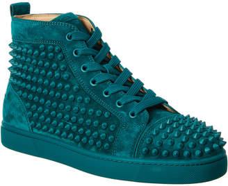 Christian Louboutin Louis Spikes Suede Sneaker