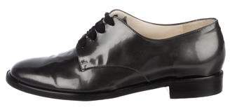 Rob-ert Robert Clergerie Metallic Round-Toe Oxfords