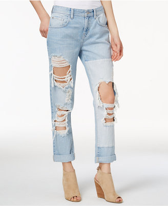 Guess Cotton Ripped Boyfriend Jeans $108 thestylecure.com