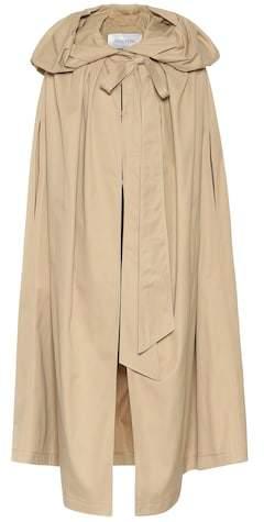 Cotton-blend gabardine cape