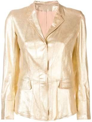 Sylvie Schimmel metallic leather jacket