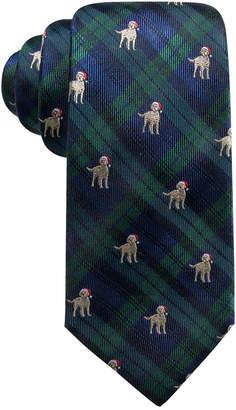 Club Room Men's Holiday Plaid Dog Silk Tie