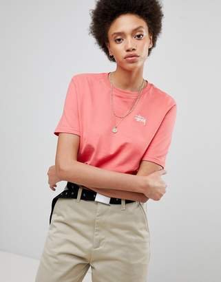 Stussy Oversized T-Shirt With Small Chest Logo