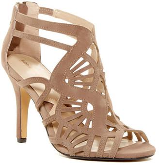 Adrienne Vittadini Gaven Laser-Cut Sandal $110 thestylecure.com