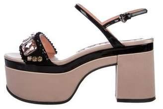 Rochas Satin Platform Sandals