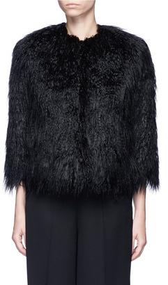Theory 'Elastana 2' faux fur coat