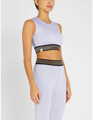 Monreal London Silhouette stretch-jersey crop top