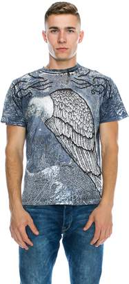 De-Luxe DELUXE Men's Stone Decorated Graphic T-Shirt(105 Gray, Size M)