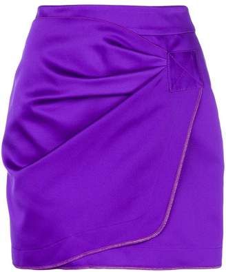 No.21 wrap front mini skirt