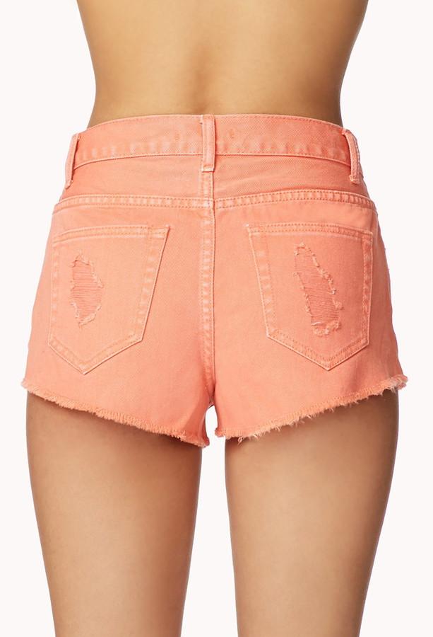 Forever 21 Secret Rebel Denim Shorts