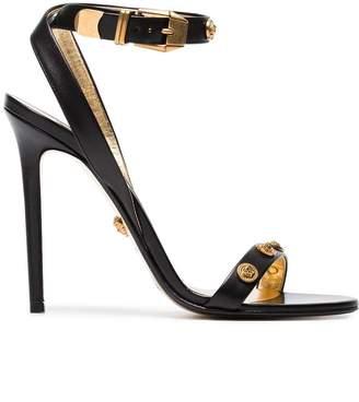Versace black Medusa Medal 110 leather sandals