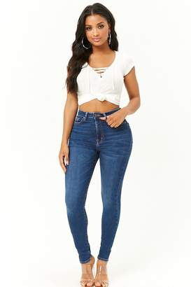 Forever 21 Sculpted High-Rise Skinny Jeans