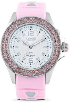 Swarovski Radiant Whimsy Crystal & Silicone Strap Watch/Pink