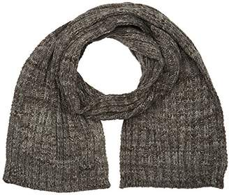 Schott NYC Men's SCARFBOSTON Scarf, Grey Charcoal Mix