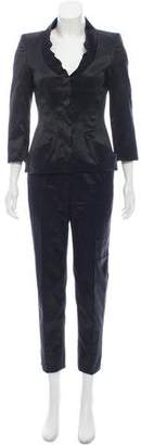 Alexander McQueen Satin Cropped Pant Suit