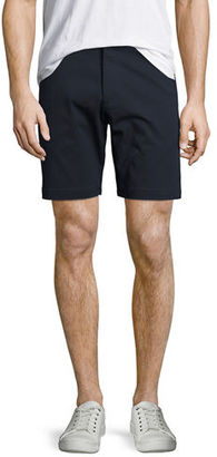 Theory Zaine Witten Stretch-Cotton Shorts $165 thestylecure.com