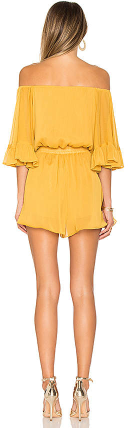 Endless Rose Ruffled Sleeve Romper in Yellow 4