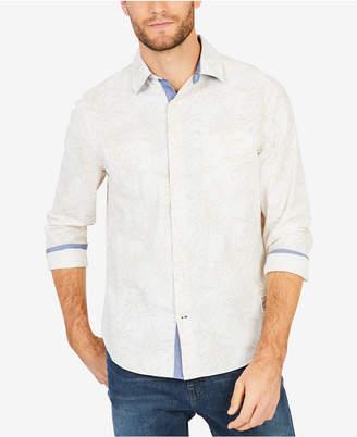 Nautica Men's Leaf-Print Classic Fit Shirt