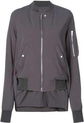 Rick Owens high low hem bomber jacket