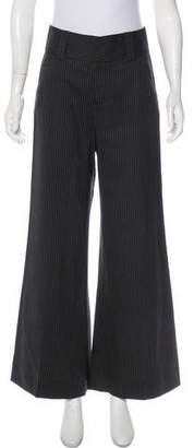 Alice + Olivia Strip Flared Pants
