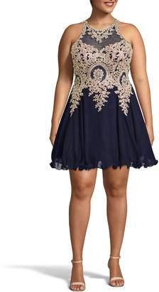 Xscape Evenings Embellished Merrow Hem Party Dress