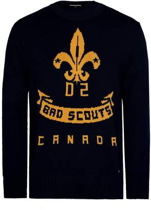 DSQUARED2 Dsquared Bad Scouts Woven Jumper Navy