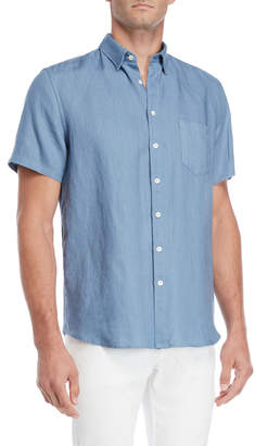 Steven Alan Linen Short Sleeve Shirt