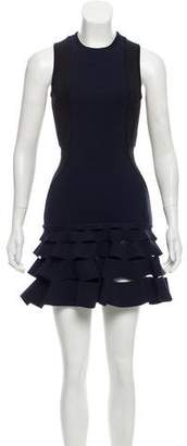 Dion Lee Lory Circle Cut Slash Ruffle Mini Dress w/ Tags