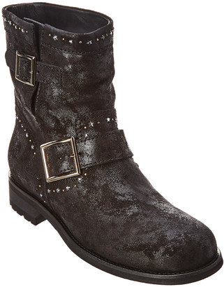 Jimmy Choo Youth Star Embellished Suede Boot