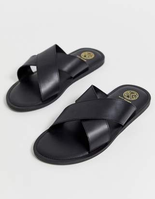 36f1be02903 Mens Leather Soled Sandals - ShopStyle UK