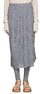 Jil Sander Women's Gingham Bubble Skirt - Navy