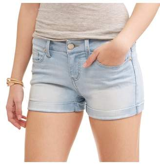 No Boundaries Juniors' Essential Soft Touch Denim Shorts