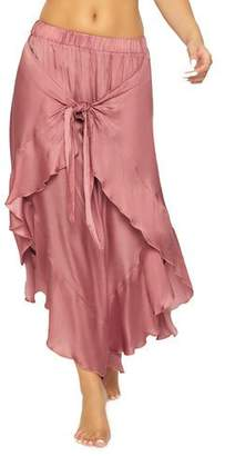 Pilyq Ruffle Tie-Front Coverup Pants