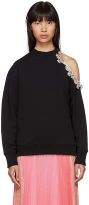 Christopher Kane Black DNA Crystal Cut-Out Sweatshirt